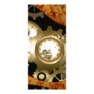 Steampunk, clocks and gears rack card