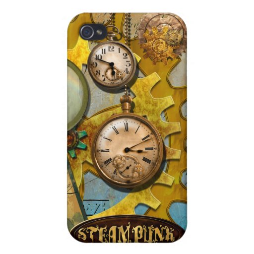 Steampunk Clocks and Time iPhone 4 Case