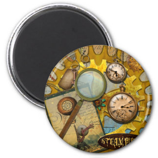 Steampunk Clocks and Time Magnet