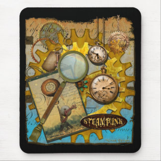 Steampunk Clocks and Time Mouse Pad