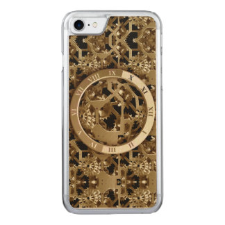 Steampunk Clocks  Gold Gears Mechanical Carved iPhone 7 Case
