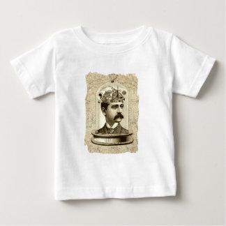 Steampunk clockwork brain head in jar baby T-Shirt