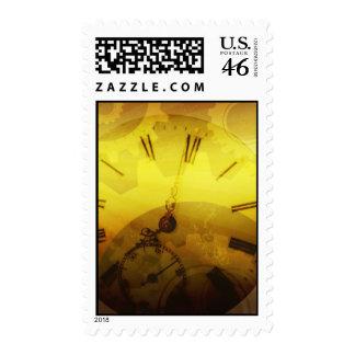 Steampunk Clockwork Postage
