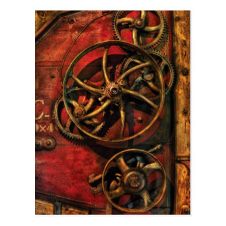 Steampunk - Clockwork Post Card