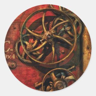 Steampunk - Clockwork Round Stickers