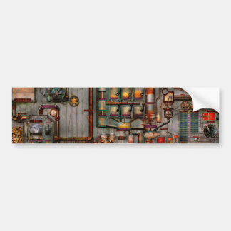 Steampunk - Coffee - The company coffee maker Bumper Sticker