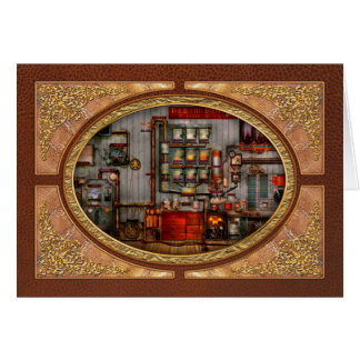 Steampunk - Coffee - The company coffee maker Greeting Cards