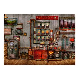 Steampunk - Coffee - The company coffee maker Custom Invitations