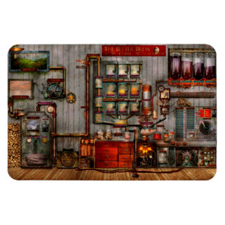 Steampunk - Coffee - The company coffee maker Rectangle Magnets