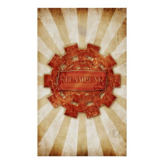 Steampunk cog posters