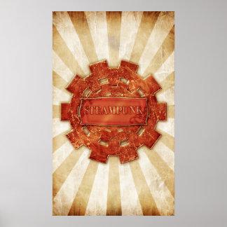 Steampunk cog poster