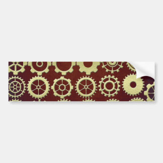 Steampunk Cogs and Gears Art Bumper Sticker