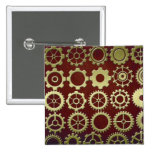 Steampunk Cogs and Gears Art Pinback Button