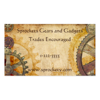 Steampunk Cogs and Gears Business Cards