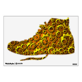 Steampunk Cogs and Gears  Shoe Wall Decal
