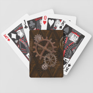 Steampunk Cogs , Gears & Skelton Key Bicycle Playing Cards