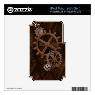 Steampunk Cogs , Gears Victoriana Design iPod Touch 4G Decals