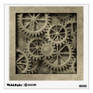 Steampunk Cogwheels Wall Decal