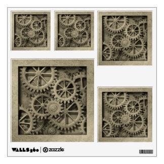 Steampunk Cogwheels Wall Decals