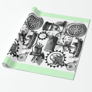 Steampunk Collage #1 By Artinspired Wrapping Paper