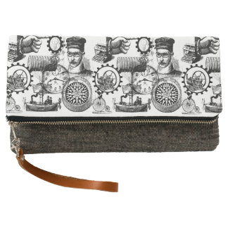 Steampunk Collage Collection #1 Clutch