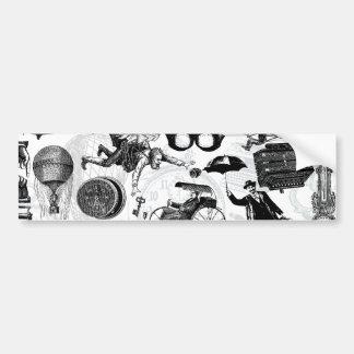 Steampunk Collage Number 2 Car Bumper Sticker
