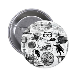 Steampunk Collage Number 2 Button