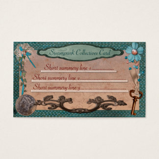 Steampunk Collectives for Web or Local Business Business Card