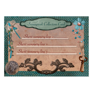 Steampunk Collectives for Web or Local Business Large Business Cards (Pack Of 100)