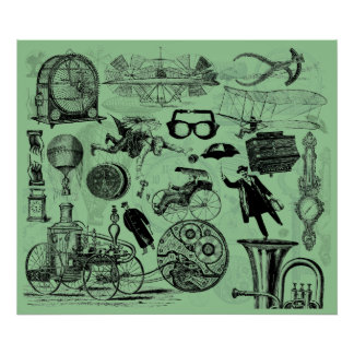 Steampunk College Number 2 Posters
