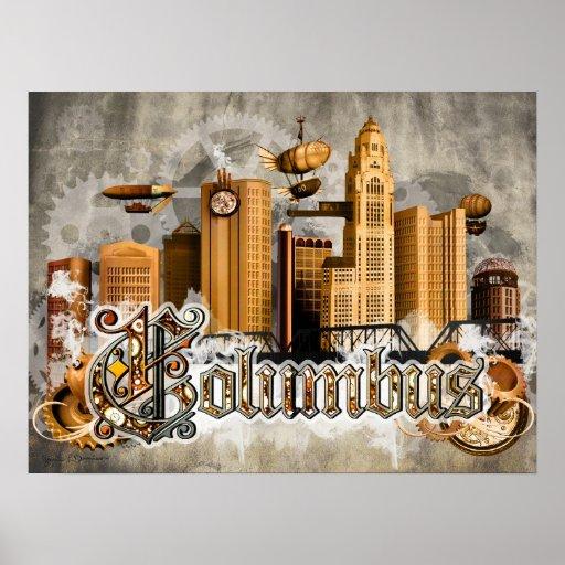 Steampunk Columbus Poster