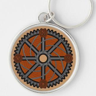 Steampunk Compass Keychain
