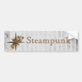 Steampunk Compass Star Grunge Bumper Sticker