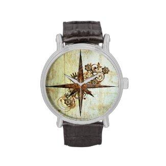 Steampunk Compass Star Watch