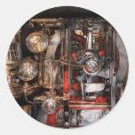 Steampunk - compruebe los indicadores pegatina redonda