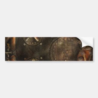 Steampunk - compruebe su presión etiqueta de parachoque