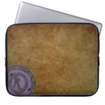 Steampunk con monograma una lila del bolso de la e funda computadora