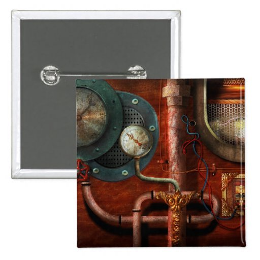 Steampunk - Controls 2 Inch Square Button