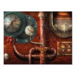 Steampunk - Controls 4.25x5.5 Paper Invitation Card