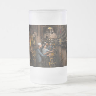 Steampunk - Controls on the USS Washington 1920 Frosted Glass Beer Mug