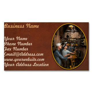 Steampunk - Controls on the USS Washington 1920 Magnetic Business Card