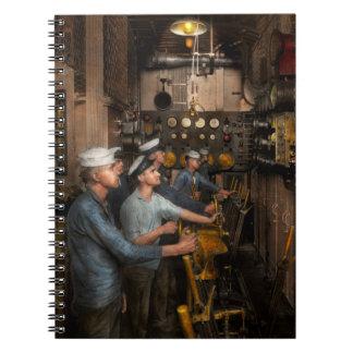 Steampunk - Controls on the USS Washington 1920 Spiral Notebook