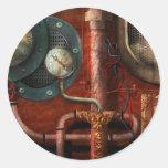 Steampunk - Controls Round Stickers