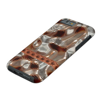 Steampunk Copper Gold Silver Metallic-effect Tough iPhone 6 Case