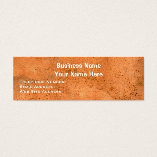 Steampunk Copper Metallic-effect Profile Cards