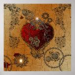 Steampunk, corazón impresionante póster