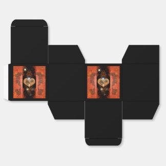 Steampunk, corazón maravilloso con los relojes caja para regalo de boda