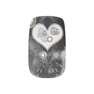 Steampunk, corazón maravilloso pegatina para manicura