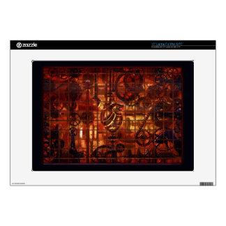 Steampunk Coronary Clockwork Gears Decals For Laptops