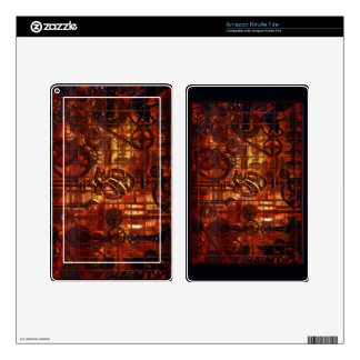 Steampunk Coronary Clockwork Gears Kindle Fire Decals